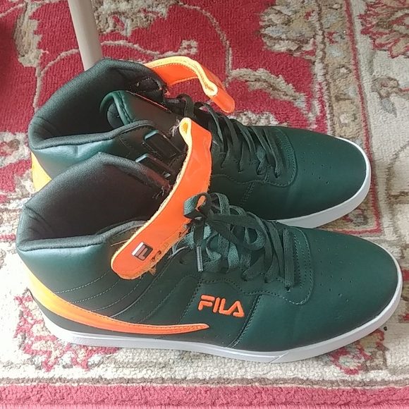 orange and green fila
